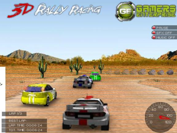 jeu 3D Rally racing